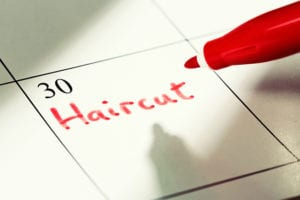 you can go anywhere from 4-8 weeks between haircuts depending on your specific cut